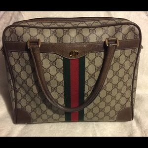 Classic Gucci Web Doctor's Bag